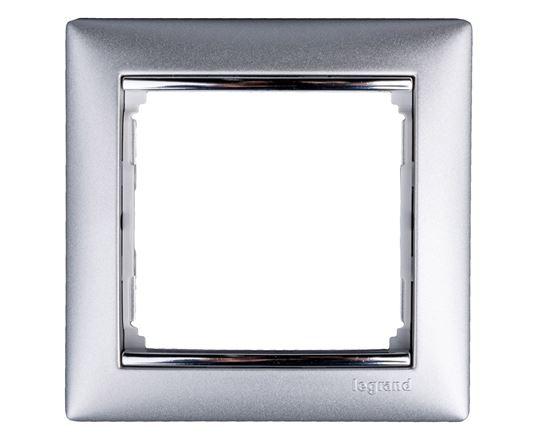 VALENA Ramka pojedyncza aluminium 770351