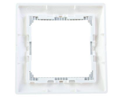 VALENA Ramka pojedyncza pozioma biała/srebro 770491