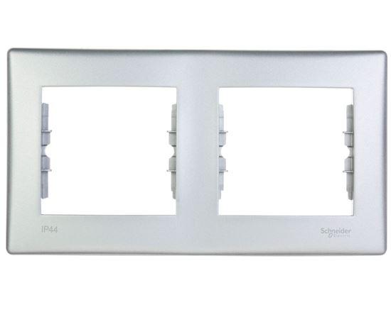 Sedna Ramka aluminium podwójna IP44 SDN5810360