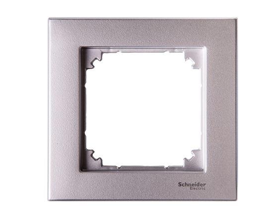 Merten M-Plan Ramka pojedyncza aluminium MTN486160