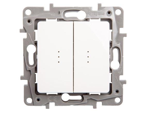 NILOE Łącznik wielofunkcyjny 10AX z podświetleniem biały + 2 LED IP20 664714