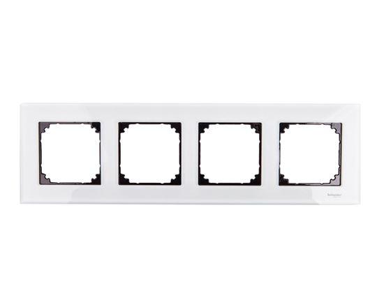 Merten M-Elegance Ramka poczwórna szklana brylantowy biały MTN404419