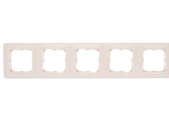 CARIVA Ramka pięciokrotna kremowa 773755