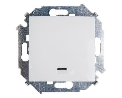 Simon 15 Łącznik jednobiegunowy z podświetleniem biały 1591104-030