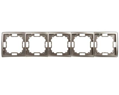 Simon Basic Standard Ramka pięciokrotna uniwersalna satynowa BMR5/29