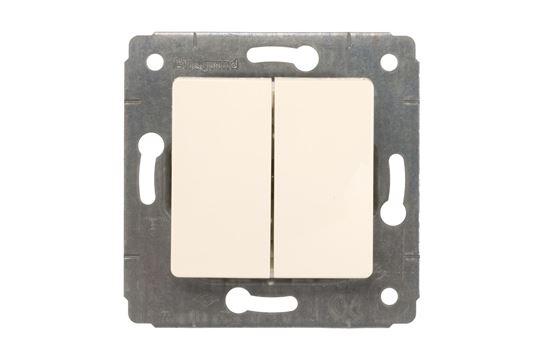 CARIVA Łącznik schodowy podwójny kremowy IP20 773708