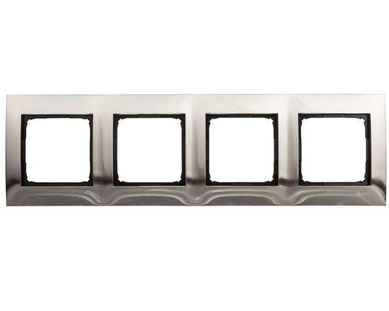 Simon 54 Premium Ramka poczwórna metalowa inox DR4/61