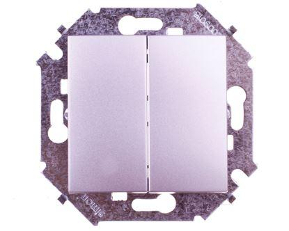 Simon 15 Łącznik świecznikowy aluminiowy metalizowane 1591398-026