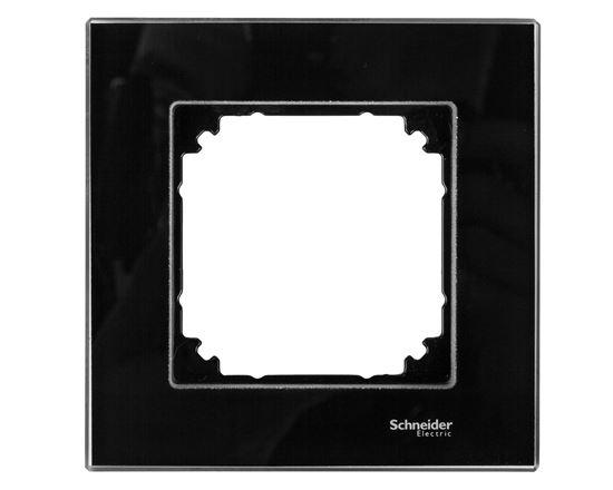 Merten M-Elegance Ramka pojedyncza szklana onyks czarny MTN404103