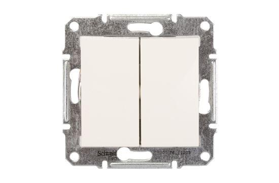 Sedna Łącznik schodowy podwójny 10AX kremowy IP20 SDN0600123