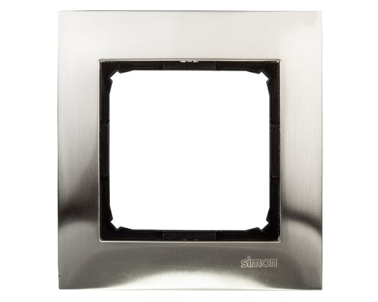 Simon 54 Premium Ramka pojedyncza metalowa inox DR1/61