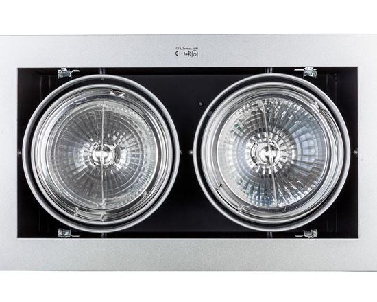 Oprawa downlight 2x50W G5312V IP20 MATEO DL-250-GR szara 04961