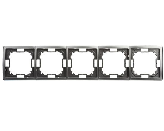 Simon Basic Standard Ramka pięciokrotna uniwersalna stal inox BMR5/21