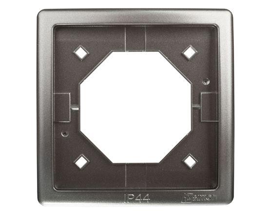 Simon Basic Standard Ramka bryzgoszczelna pojedyncza IP44 z uszczelką stal inox BMR1B/21