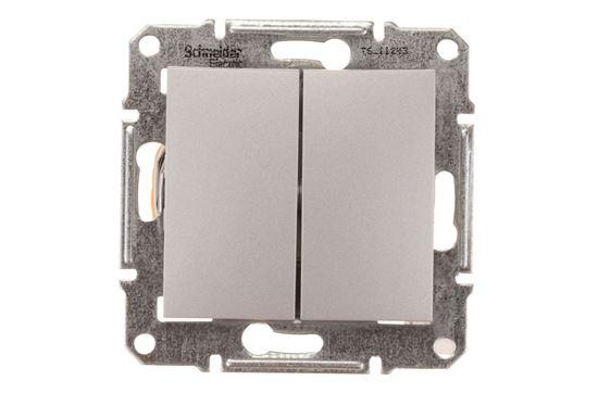 Sedna Łącznik schodowy podwójny 10AX aluminium IP20 SDN0600160
