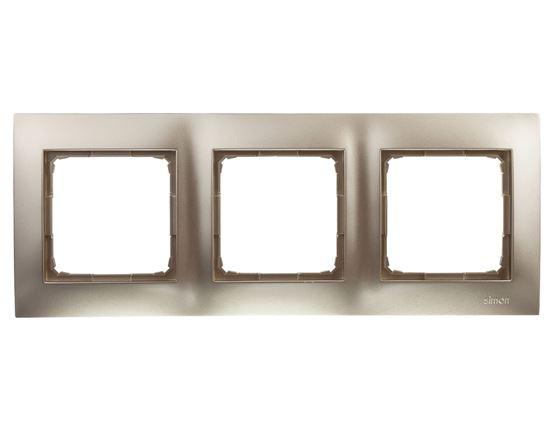 Simon 54 Premium Ramka potrójna złoty mat DR3/44