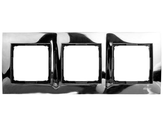 Simon 54 Premium Ramka potrójna metalowa ciemna stal DR3/67