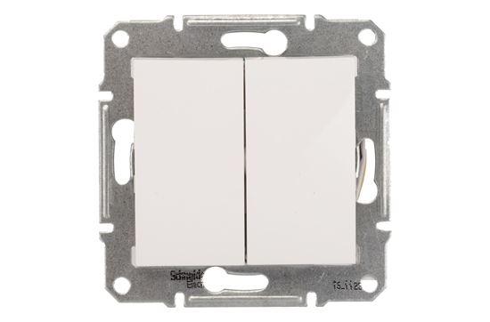 Sedna Łącznik schodowy podwójny 10AX biały IP20 SDN0600121