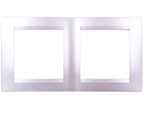 Simon 15 Ramka podwójna uniwersalna aluminium metalizowane 1501620-026
