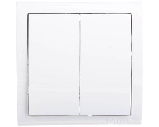 Simon Classic Łącznik świecznikowy z podświetleniem biały MW5L/11