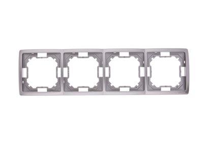 Simon Basic Standard Ramka poczwórna uniwersalna stal inox BMR4/21