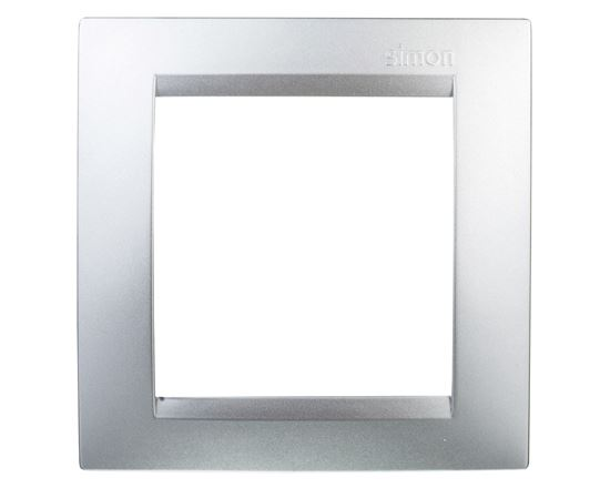 Simon 15 Ramka pojedyncza uniwersalna aluminium metalizowane 1501610-026