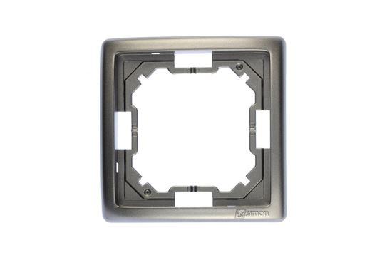 Simon Basic Standard Ramka pojedyncza uniwersalna stal inox BMR1/21