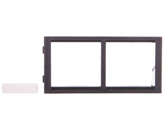 Simon Connect Ramka CIMA podwójna 2xK45 pozioma szary grafit S66/14