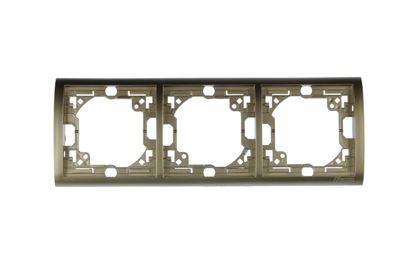 Simon Classic Ramka potrójna pozioma platyna metalizowana MR3/27