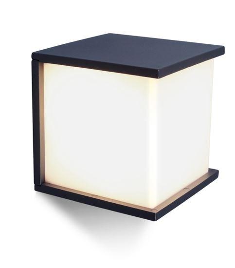 Kinkiet Box Cube  antracyt E27 IP44
