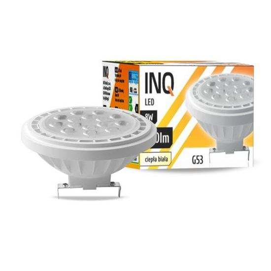 LAMPA LED  AR111  G53  8W 830  12V 36^ 640lm biały  INQ