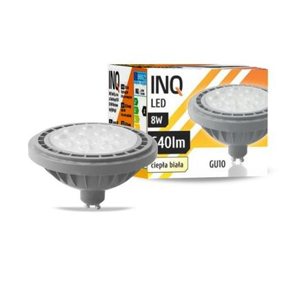 LAMPA LED  AR111  GU10   8W 830  230V 36^ 640lm szary INQ