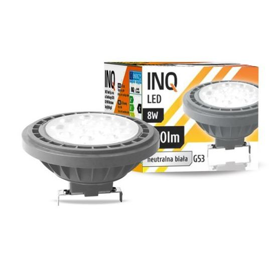 LAMPA LED  AR111  G53  8W 840  12V 36^ 640lm szary  INQ