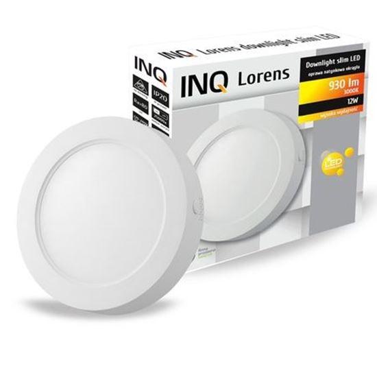 OPRAWA LED n/t DOWNLIGHT LORENS okrągła  12W 830 930lm  IP20 slim