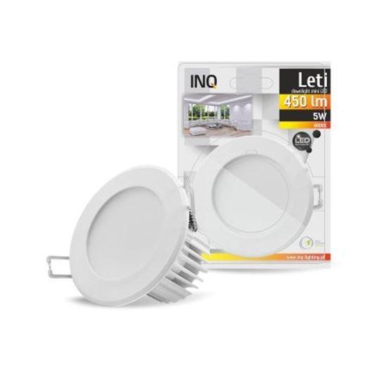 OPRAWA LED p/t LETI oczko 5W 840 450lm IP40 BIAŁA