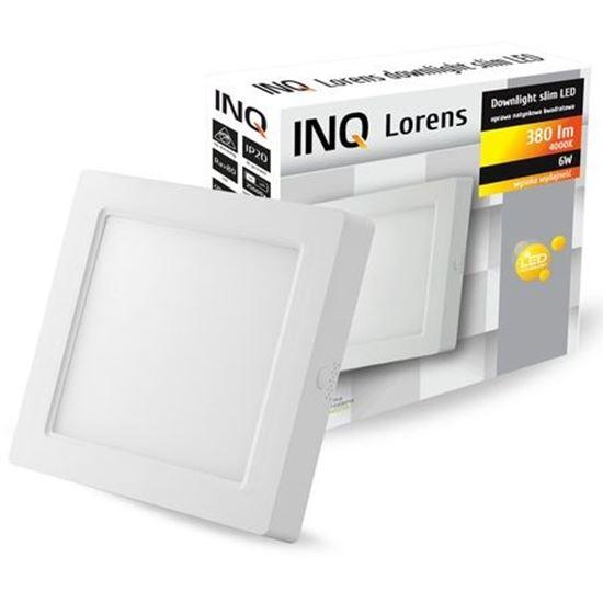 OPRAWA LED n/t DOWNLIGHT LORENS kwadrat   6W 840 380lm  IP20 slim