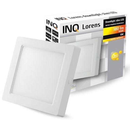 OPRAWA LED n/t DOWNLIGHT LORENS kwadrat   6W 830 380lm  IP20 slim