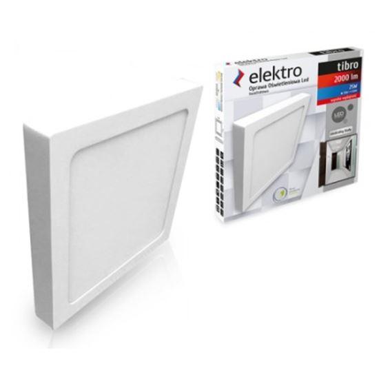 OPRAWA LED n/t DOWNLIGHT kwadrat 25W 830 2000lm IP20 TIBRO BIAŁA ELEKTRO