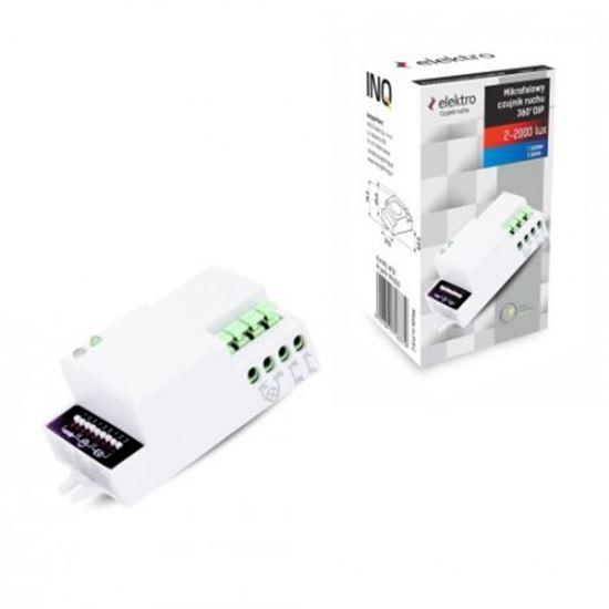 CZUJNIK RUCHU HF 360^ IP20 1200W 3-2000lux  bez obudowy, regulacja suwakowa mikrofalowy
