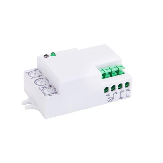 CZUJNIK RUCHU HF 360^ IP20 1200W 3-2000lux bez obudowy, regulacja ciągła mikrofalowy