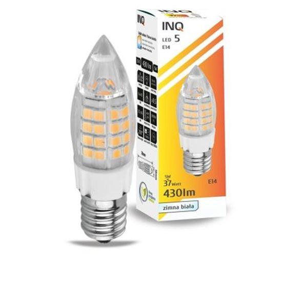 LAMPA LED E14  LED 5 candle 430lm 6000K INQ