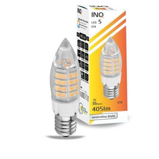 LAMPA LED E14  LED 5 candle 405lm 4000K INQ