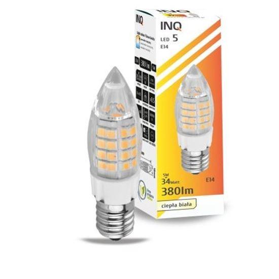 LAMPA LED E14  LED 5 candle 380lm 2700K INQ