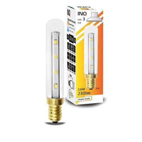 LAMPA LED E14  LED 3  T18 230lm 3000K okap INQ
