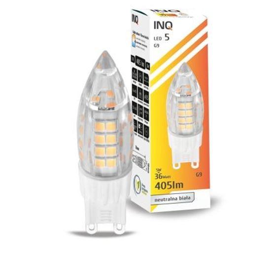 LAMPA LED G9  LED 5 candle 480lm 4000K INQ