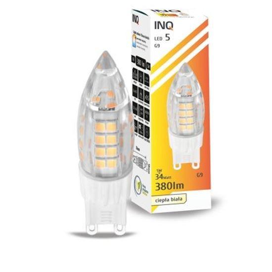LAMPA LED G9  LED 5 candle 430lm 3000K INQ
