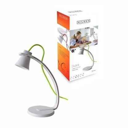 Lampka biurkowa LED SKARA biało-zielona
