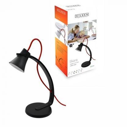 Wycofany Lampka biurkowa LED SKARA czarno-czerwona