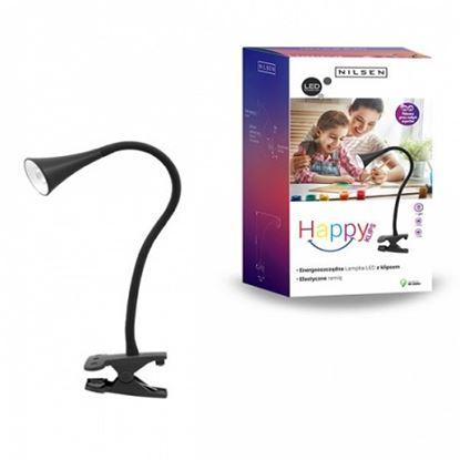 Lampka biurkowa LED HAPPY CLIPS CZARNA