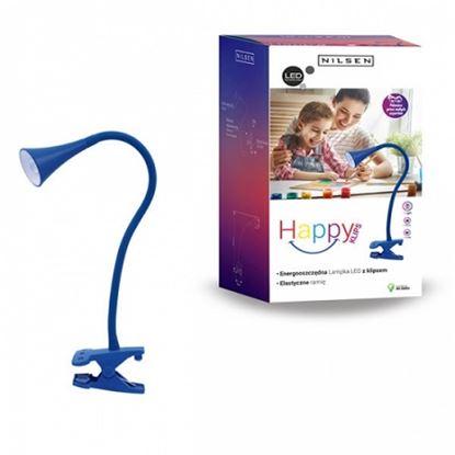 Lampka biurkowa LED HAPPY CLIPS NIEBIESKA